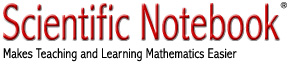 Scientific Notebook: Makes Teaching and Learning Mathematics Easier.
